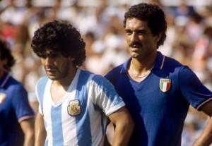 Maradona marcato da Claudio Gentile