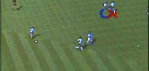 Marcatura a uomo di Gentile su Maradona