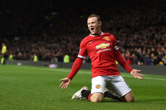 Serata magica per Rooney: 2 goal ed un assist.