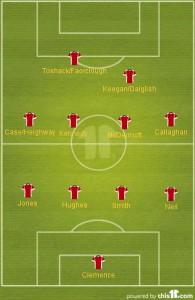 Schema tattico del Liverpool di Paisley