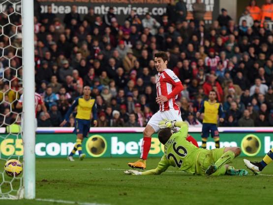 Krkic mette in rete il 2-0 dello Stoke